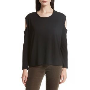 NWT RAG&BONE/JEAN Black Cold-Shoulder Top